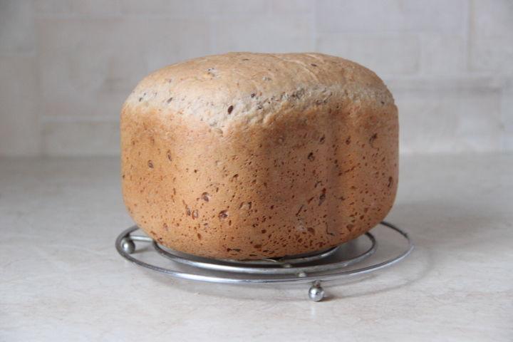 отрубной хлеб в хлебопечке с семенами льна и тыквы