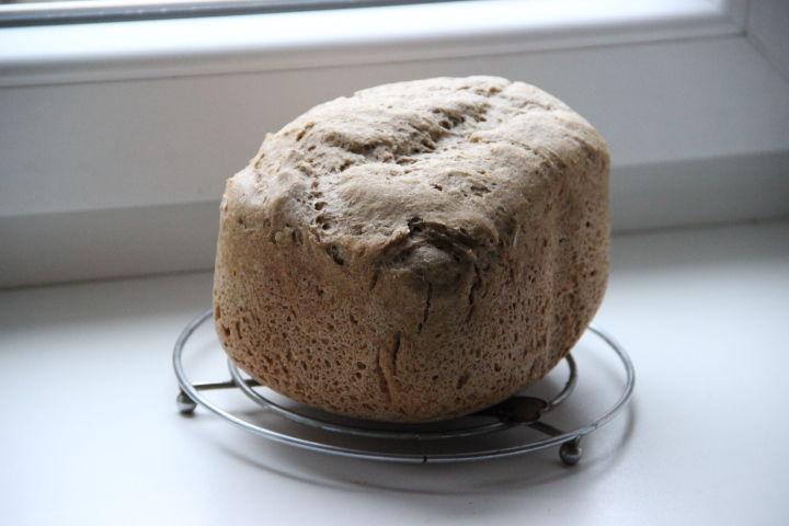 ржано-пшеничный хлеб на закваске в хлебопечке