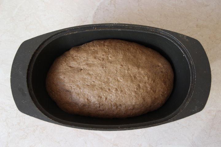 тесто для льняного хлеб в духовке после подъема