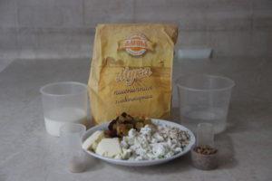 продукты для творожного хлеба с сухофруктами