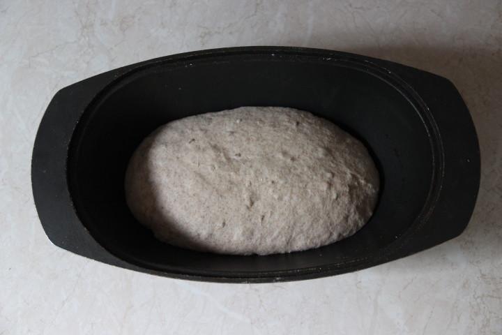 тесто для цельнозернового хлеба в духовке