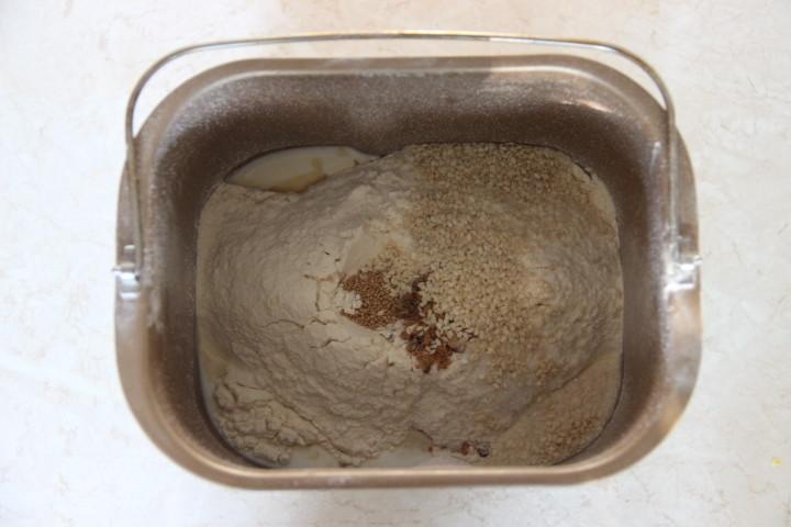 продукты для кунжутного хлеба в хлебопечке