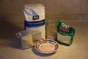 продукты для хлеба с семолиной и кунжутом