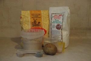 продукты для деревенского хлеба в духовке
