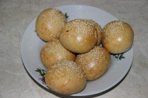 булочки для гамбургеров в духовке