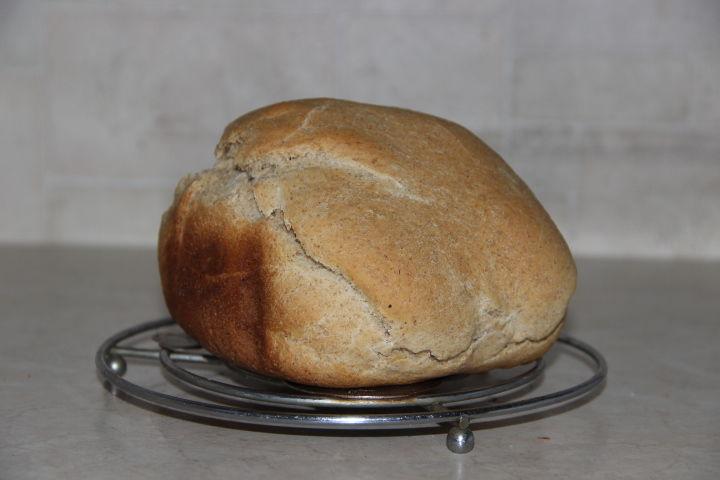 готовый ржаной хлеб на йогурте в хлебопечке