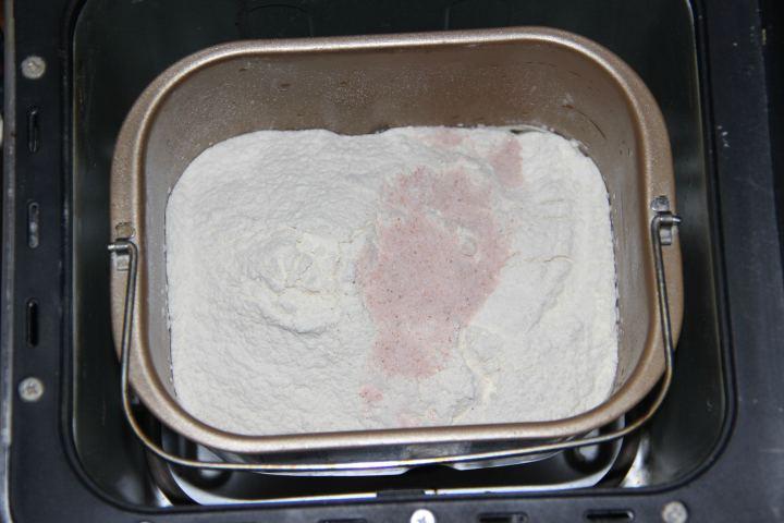 тесто с пшенично-ржаного хлеба на закваске с морской капустой